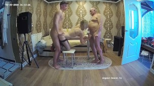 Stepfamily With Cuckold & Busty Milf in Nasty Homemade Group Sex